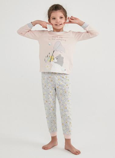 Penti Çok Renkli Kız Çocuk Campıng Joy Ls 2Li Pijama Takımı Renkli